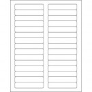 """3 7/16 x 2/3"""" White Rectangle Laser Labels"""