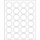 "1 5/8"" Glossy White Circle Laser Labels"