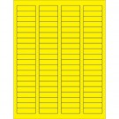 """1 3/4 x 1/2"""" Fluorescent Yellow Rectangle Laser Labels"""