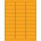"2 5/8 x 1"" Fluorescent Orange Removable Rectangle Laser Labels"