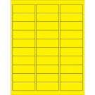 """2 5/8 x 1"""" Fluorescent Yellow Removable Rectangle Laser Labels"""
