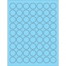 "1"" Fluorescent Pastel Blue Circle Laser Labels"
