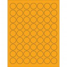 "1"" Fluorescent Orange Circle Laser Labels"