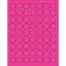 "1"" Fluorescent Pink Circle Laser Labels"