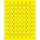 "1"" Fluorescent Yellow Circle Laser Labels"