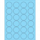 "1 5/8"" Fluorescent Pastel Blue Circle Laser Labels"