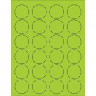 "1 5/8"" Fluorescent Green Circle Laser Labels"