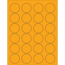 "1 5/8"" Fluorescent Orange Circle Laser Labels"