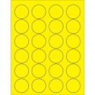 "1 5/8"" Fluorescent Yellow Circle Laser Labels"
