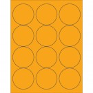 "2 1/2"" Fluorescent Orange Circle Laser Labels"