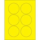 """3"""" Fluorescent Yellow Circle Laser Labels"""