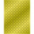 """3/4"""" Gold Foil Circle Laser Labels"""