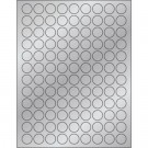 "3/4"" Silver Foil Circle Laser Labels"
