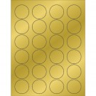 "1 5/8"" Gold Foil Circle Laser Labels"