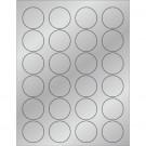 "1 5/8"" Silver Foil Circle Laser Labels"