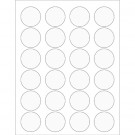 "1 5/8"" Clear Circle Laser Labels"