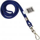 Standard Blue Lanyard with Hook