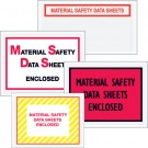 "4 1/2"" x 6"" Yellow (Striped) ""Material Safety Data Sheets Enclosed"" Envelopes"
