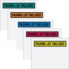 """7 x 6"""" Red """"Packing List Enclosed"""" Envelopes"""
