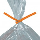 "10 x 5/32"" Orange Paper Twist Ties"