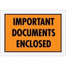 "5 1/4 x 7 1/2"" Orange ""Important Documents Enclosed"" Envelopes"