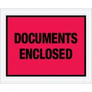 """4 1/2 x 5 1/2"""" Red """"Documents Enclosed"""" Envelopes"""