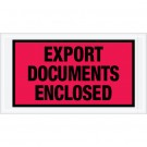 """5 1/2 x 10"""" Red """"Export Documents Enclosed"""" Envelopes"""