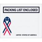 "4 1/2 x 5 1/2"" U.S.A. Ribbon ""Packing List Enclosed"" Envelopes"