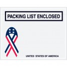 "7 x 5 1/2"" U.S.A. Ribbon ""Packing List Enclosed"" Envelopes"