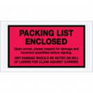 """5 1/2 x 10"""" Red """"Packing List Enclosed"""" Envelopes"""