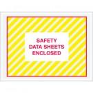 "4 1/2 x 6"" ""Safety Data Sheets Enclosed"" SDS Envelopes"