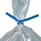 """10 x 5/32"""" Blue Plastic Twist Ties"""