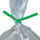 """10 x 5/32"""" Green Plastic Twist Ties"""