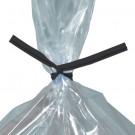 """10 x 5/32"""" Black Plastic Twist Ties"""