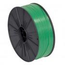 """5/32"""" x 7000' Green Plastic Twist Tie Spool"""