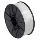 "5/32"" x 7000' White Plastic Twist Tie Spool"