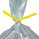 "10 x 5/32"" Yellow Plastic Twist Ties"