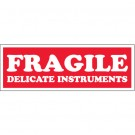 "1 1/2 x 4"" - ""Fragile - Delicate Instruments"" Labels"