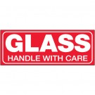 "1 1/2 x 4"" - ""Glass - Handle With Care"" Labels"