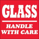 "4 x 4"" - ""Glass - Handle With Care"" Labels"