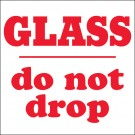 "4 x 4"" - ""Glass - Do Not Drop"" Labels"