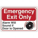 """Emergency Exit Only..."" 6 x 9"" Facility Sign"