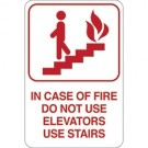 """IN CASE OF FIRE…"" 9 x 6"" Facility Sign"