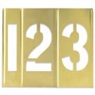 "1"" Number Only Brass Stencils"