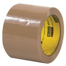 """3"""" x 110 yds. Tan (6 Pack) 3M™ 371 Carton Sealing Tape"""