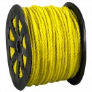 "1/2"", 3,800 lb, Yellow Twisted Polypropylene Rope"