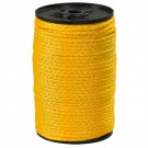 "3/16"", 450 lb, Yellow Hollow Braided Polypropylene Rope"