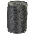 "1/8"", 320 lb, Black Solid Braided Nylon Rope"