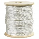 "3/8"", 2,900 lb, White Twisted Polyester Rope"