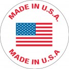 "1"" Circle - ""Made in U.S.A."" Labels"
